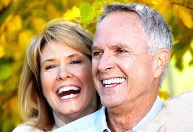 Happy Older Couple Laughing | Dentist Elgin IL