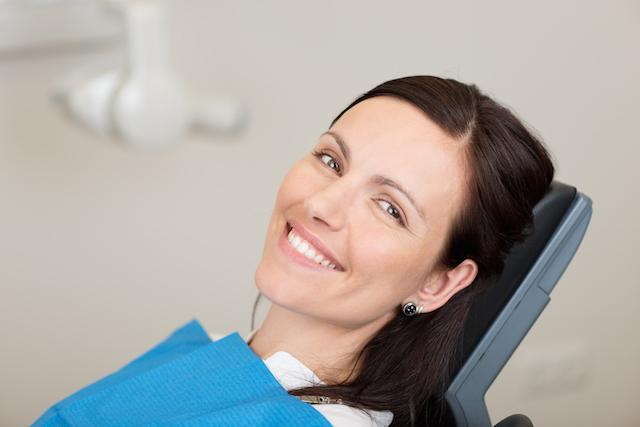 Woman Smiling in Dental Chair | Dentist Elgin IL